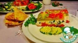 Террин с фетой и овощами