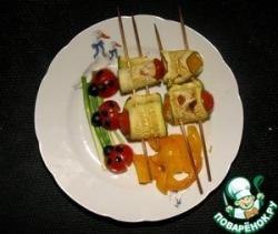 Рулеты из кабачков с рисом