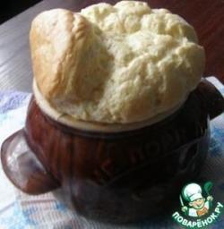 Сырное суфле с крабами
