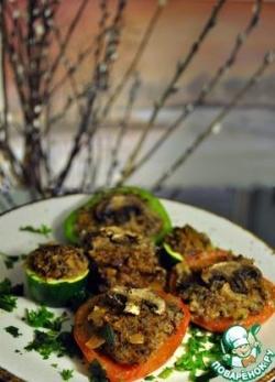 Овощи, фаршированные гречкой и грибами