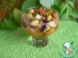 Тушеные овощи и чечевица