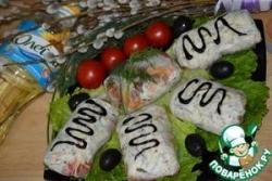 Рисовые лепешки с курочкой и овощами