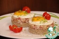 Тартар из бекона с яйцом