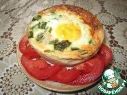 Тарталетки с беконом и яйцом