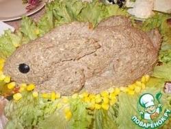 Салат из печени с орехами