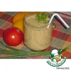 Смузи огуречно-томатный с зеленью