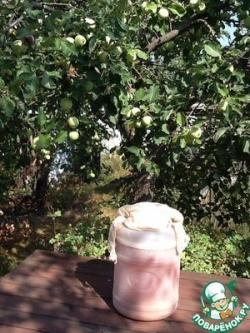 Яблочный квас из зеленых яблок