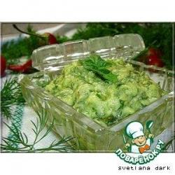 Соус из авокадо с зеленью