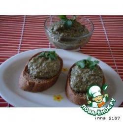 Дип из баклажанов с оливками