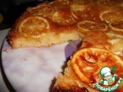 Перевернутый лимонный пирог с карамелью