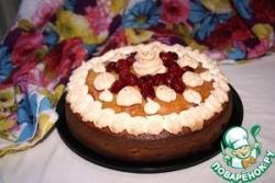Вишневый пирог с оливковым маслом, лаймом и безе