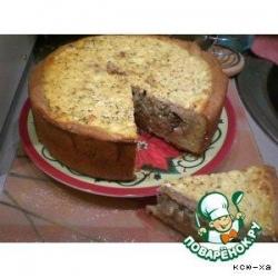 Луковый пирог с глазурью