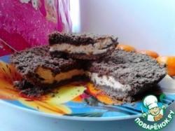 Шоколадная королевская ватрушка с начинкой Топлёное молоко)