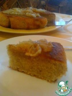 Миндальный пирог с лимонной глазурью