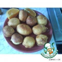 Апельсиновые пончики в медовом сиропе