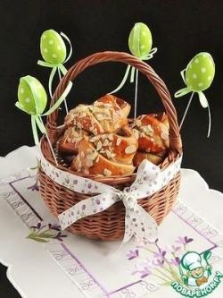 Двухцветные рогалики с кокосово-творожной начинкой