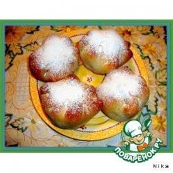 Яблочные   пампушки