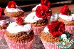 Шоколадные кексы с зефирной шапочкой