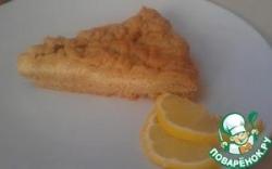 Лимонный пирог с творогом на песочном тесте