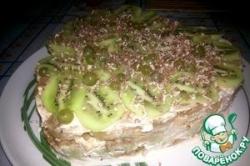 Пряничный тортик с бананом и киви