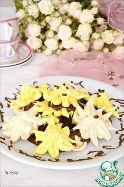 Торт из безе с шоколадным заварным кремом