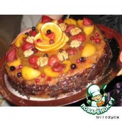 Творожно-фруктовый тортик