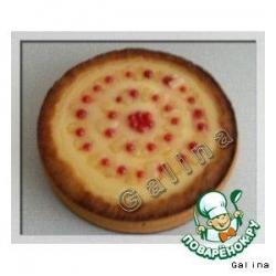Творожный пирог  с ананасом и красной смородиной