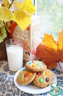 Овсяно-гречневое печенье с М&Ms