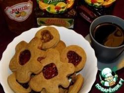 Печенье овсяное с миндалем и джемом