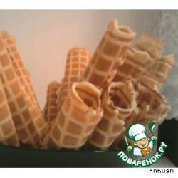 Рассыпчатые вафли со сметаной