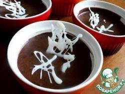 Шоколадный мусс с ликёром и белым шоколадом