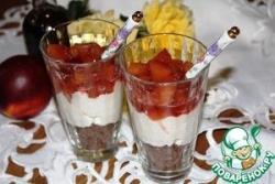 Десерт с персиками и маскарпоне