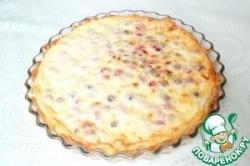 Сырно-творожный пирог с сухофруктами