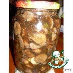 Маринованные  грибы,  как  в собственном  соку