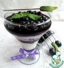Рисово-кокосовая каша-пудинг с черникой