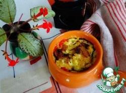 Постный жюльен из овощей с рисом