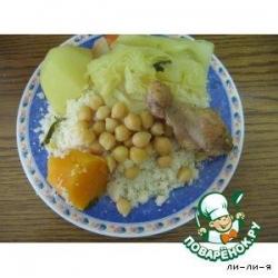 Кускус с овощами и курицей