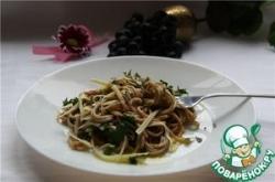 Спагетти с бальзамическим уксусом