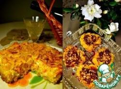 Пшённо-рисовый пирог с овощами и сладкое шоколадно-пшённое пирожное