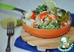 Острая паэлья с овощным миксом