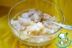 Лимонный щербет с чайным вкусом