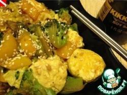 Соте из тофу и овощей