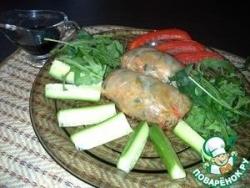 Рисовые конвертики с креветками и овощами