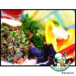 Зелeное лобио с помидорами и орехами