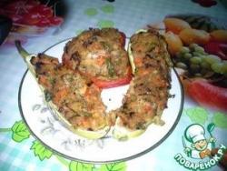 Кабачки, фаршированные кускусом и овощами