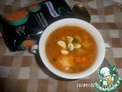Суп с красной чечевицей и овощами