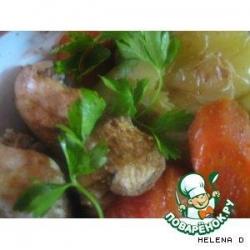 Курочка запеченая в рукаве с овощами