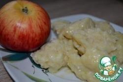 Галушки из яблок