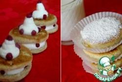 Welsh cakes со взбитыми сливками