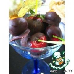 Свежие   фрукты   в   шоколадном